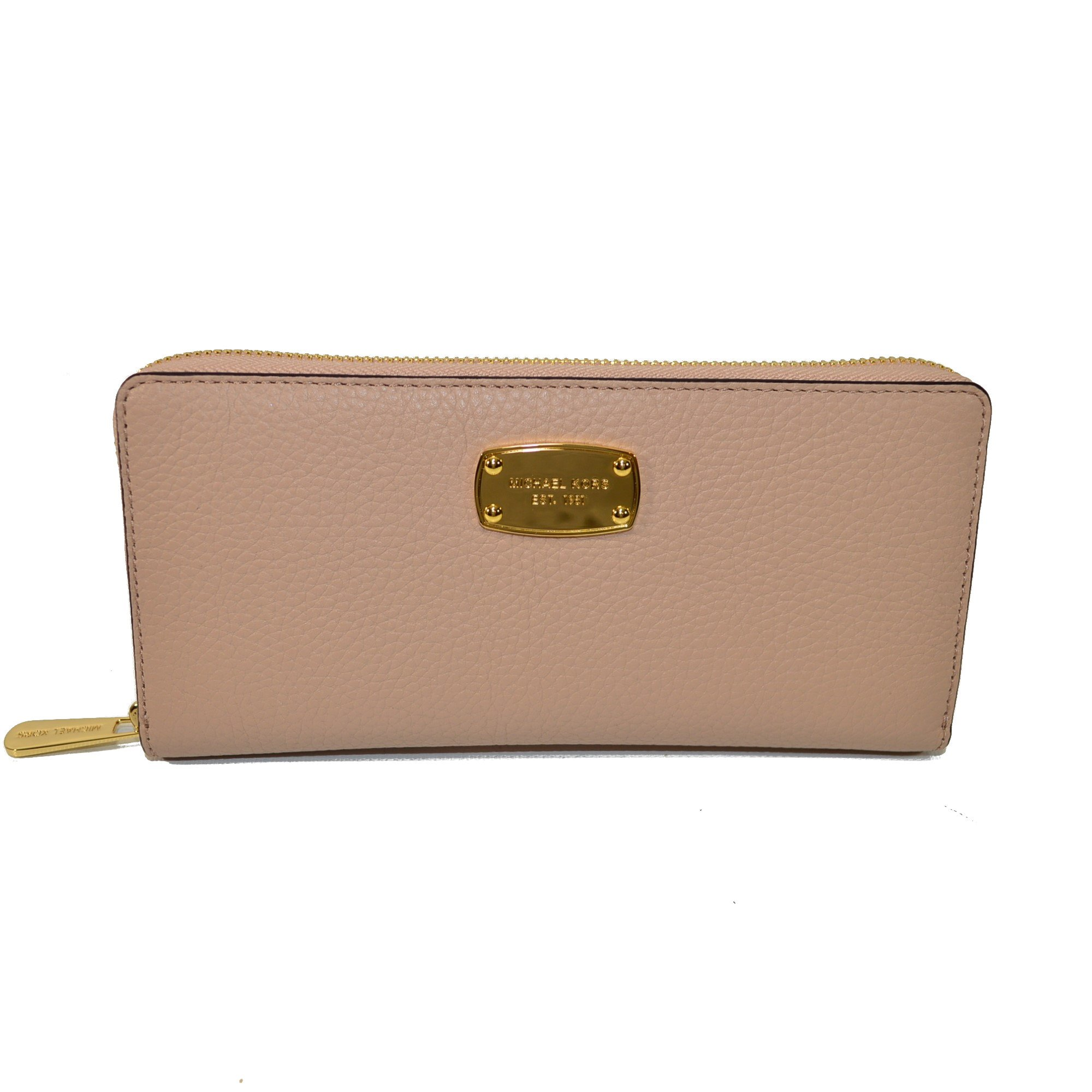 Michael Kors Jet Set Travel Zip Around Leather Clutch Blush by Michael Kors (Image #1)