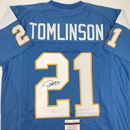 sports shoes 059f8 1c724 Autographed/Signed LaDainian Tomlinson San Diego Powder Blue ...