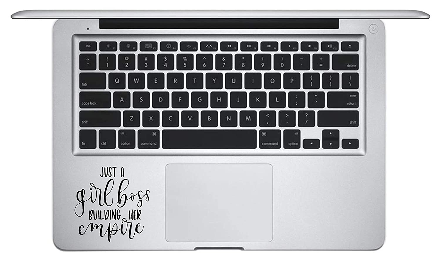 Laptop Notebook Sticker Decal - Just a Girl boss Building her Empire Key pad Palm Rest Inspirational Helpful - Skins Stickers
