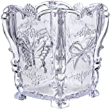 KINGSO Acrylic Clear Container Makeup Case Cosmetic Storage Holder Organizer