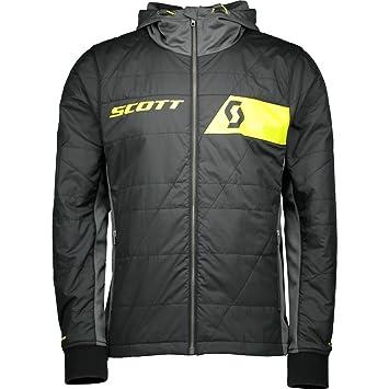 Scott Hombre Bicicleta Chaqueta Factory Team Insulation Black/Sulphur Yellow L: Amazon.es: Deportes y aire libre
