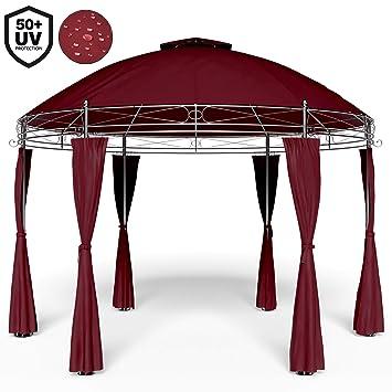 Tonnelle Toscana Rouge 3,5 m - Pavillon - Tente de jardin - Barnum ...