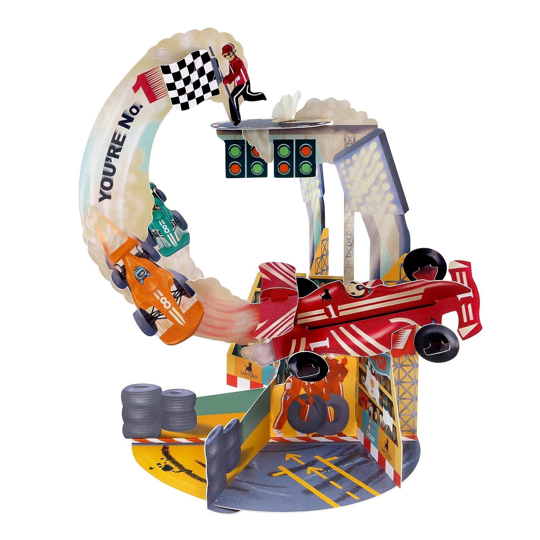 Péndulo de Cars de carreras - Santoro 3D Pop-Up Gretting y ...
