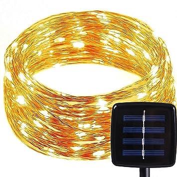Solar LED Lichterkette mit 8 Modi, MOONPOP 120er Wasserdicht IP65 ...
