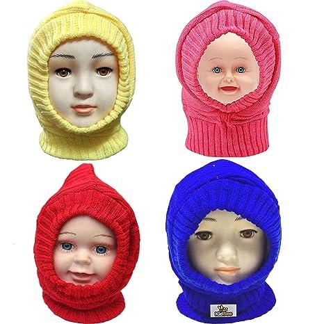 Image result for Kidbee Baby Boy's & Baby Girl's Woolen Monkey Cap