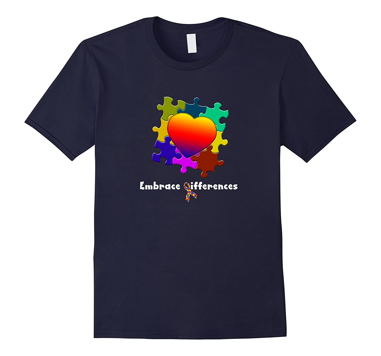 Autism Awareness Embrace Differences Tshirt Autistic Support-TH