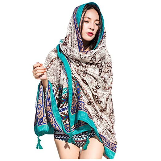 449a658fb9818 Amazon.com  GERINLY Light Summer Beach Parties Wrap Sarong Exotic Swimwear  Cover Up Scarf (Turquoise)  Clothing