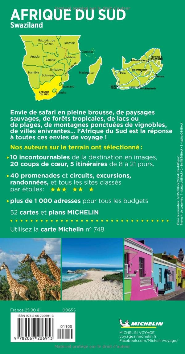Carte Afrique Du Sud Michelin.Amazon Fr Guide Vert Afrique Du Sud Michelin Michelin
