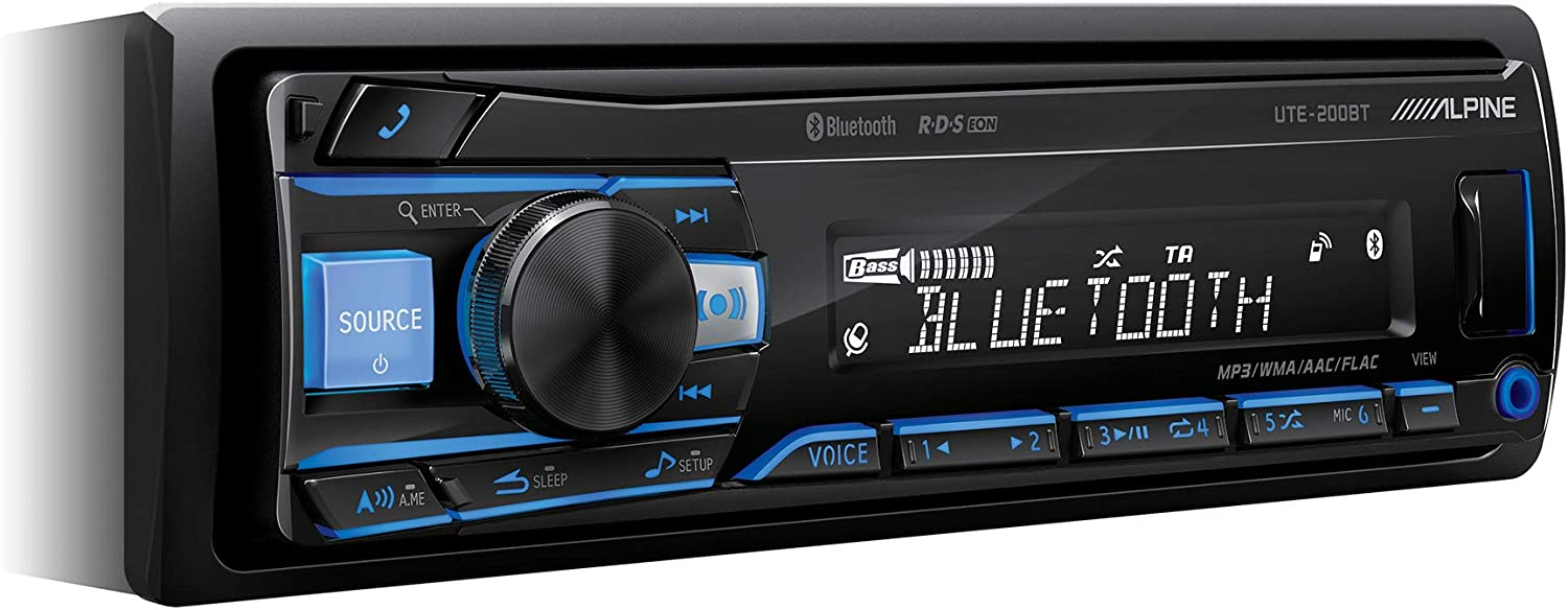 Alpine UTE-200BT Autorradio, Multicolor, Única