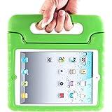 MYCARRYINGCASEキッズArmorBoxキックスタンドカバーケース (iPad2; 新しいiPad3; iPad 4 Retinaディスプレイ, Green 緑色)