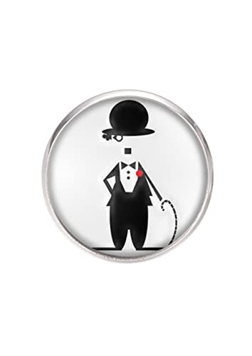 Amazon.com: Stainless steel pin brooch, diameter 25mm, pin ...