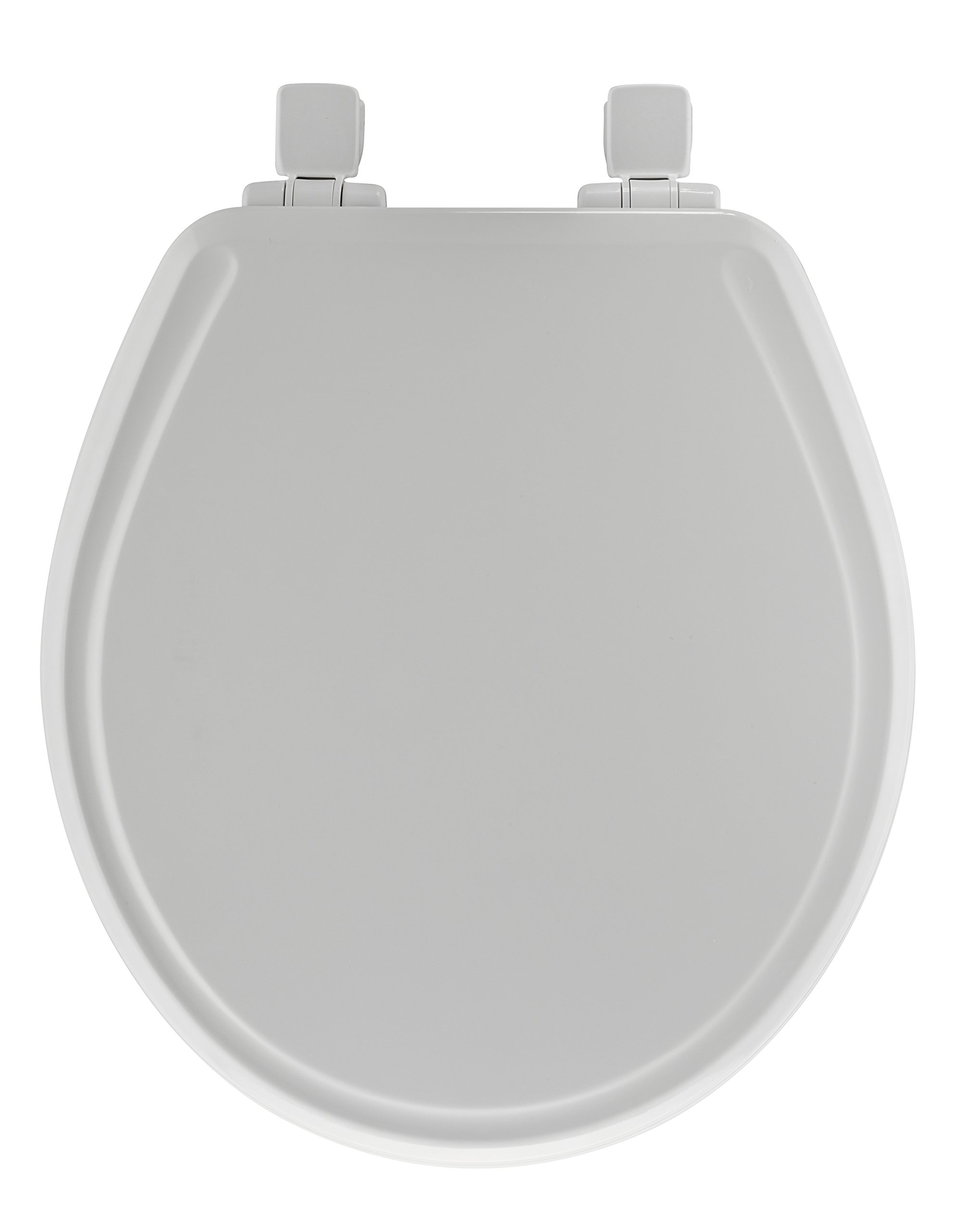 Mayfair 48SLOWA 000/848SLOWA 000 Molded Wood Toilet Seat featuring Whisper-Close, Easy Clean & Change Hinges and STA-TITE Seat Fastening System, Round, White by Mayfair (Image #2)