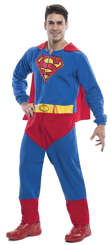 Amazon.com UHC Menu0027s Superman Onesie Superhero Outfit Theme Party Halloween Costume Clothing  sc 1 st  Amazon.com & Amazon.com: UHC Menu0027s Superman Onesie Superhero Outfit Theme Party ...