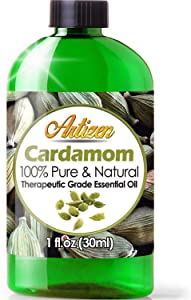 Artizen Cardamom Essential Oil (100% PURE & NATURAL - UNDILUTED) Therapeutic Grade - Huge 1oz Bottle - Perfect for Aromatherapy, Relaxation, Skin Therapy & More!