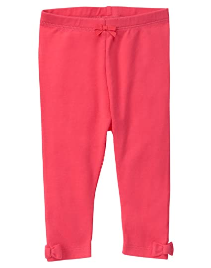 aab1e0ee41a05 Amazon.com: Gymboree Baby Girls' Red Legging with Ankle Bows: Clothing