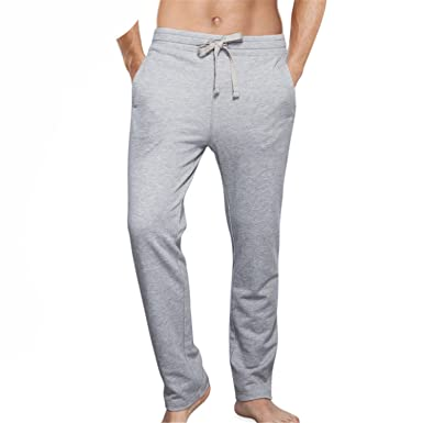 Susan1999 Mens Pajamas Lounge Pants Thick Cotton Sleep Bottoms Nightwear Pants 5XL 6XL Gray S