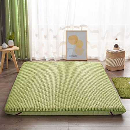 Hxxxy Tatami Floor Mat,Futon Mattress Topper Plenty Thick Traditional  Japanese Futon Japanese Bed