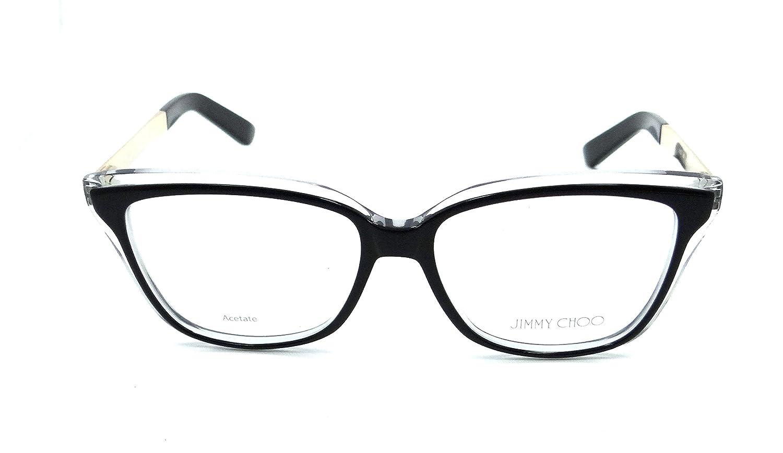 2f2a326e482 Jimmy Choo Rx Eyeglasses Frames JC 122 19U 54-15-140 Black Crystal Rose Gold   Amazon.co.uk  Clothing