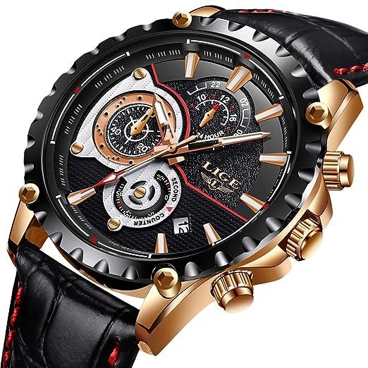 Mens Watches Waterproof Chronograph Sport Analogue Quartz Watch Men