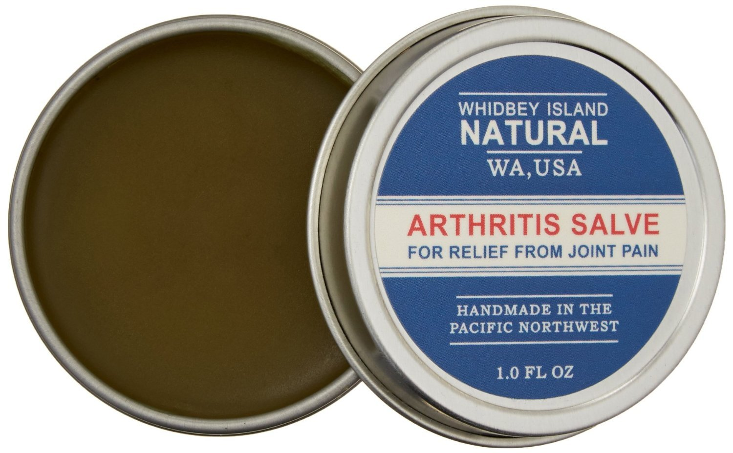 Arthritis Salve by Whidbey Island Natural | for immediate Pain Relief from deep, Aching Joints and Stiffness. All-Natural. 1 oz - TIN (2 Pack)