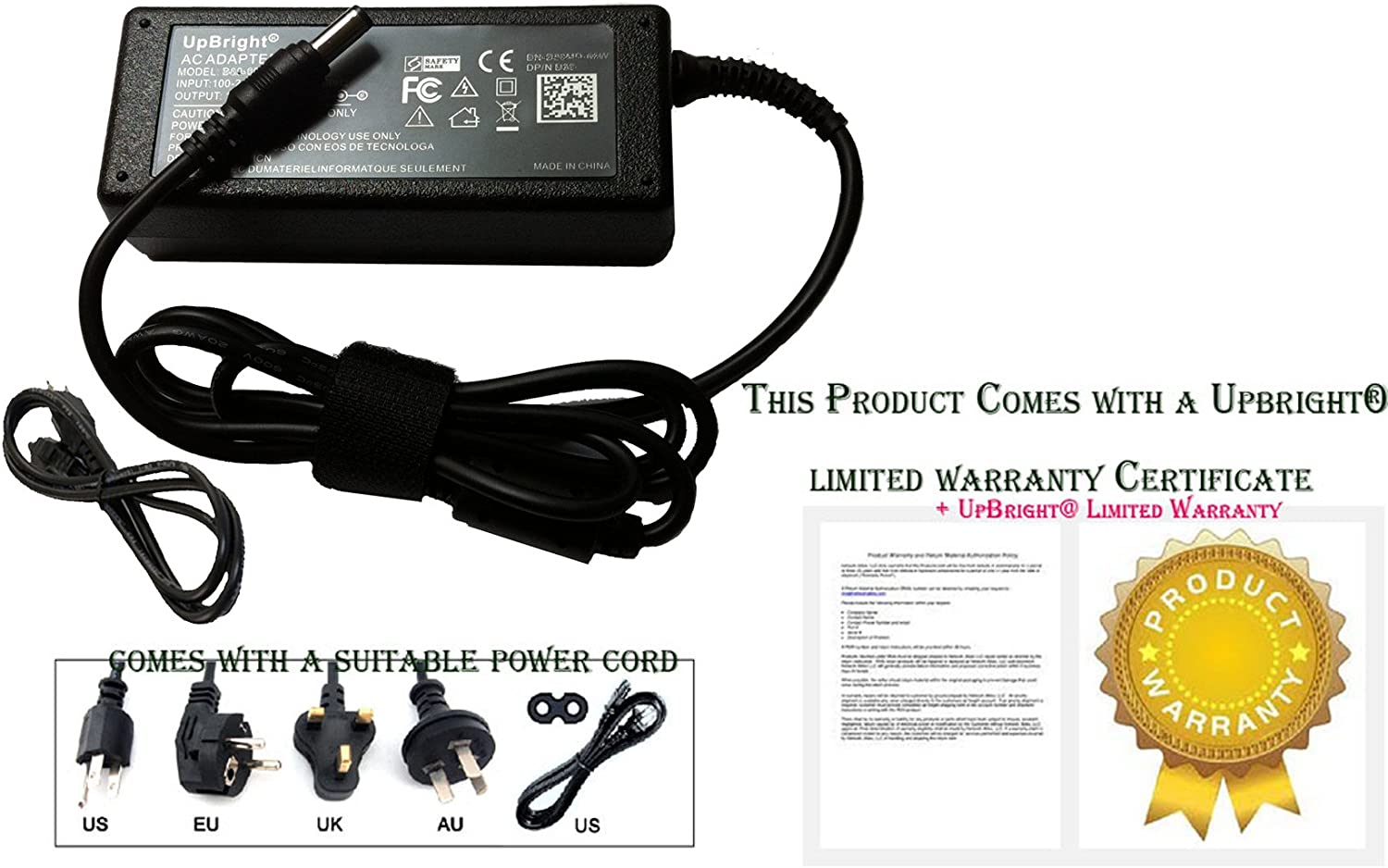 UPBRIGHT New Global AC//DC Adapter for Samsung T23A750 T23A950 3D LED LCD HD TV HDTV Monitor I.T.E Power Supply Cord Cable Charger Mains PSU