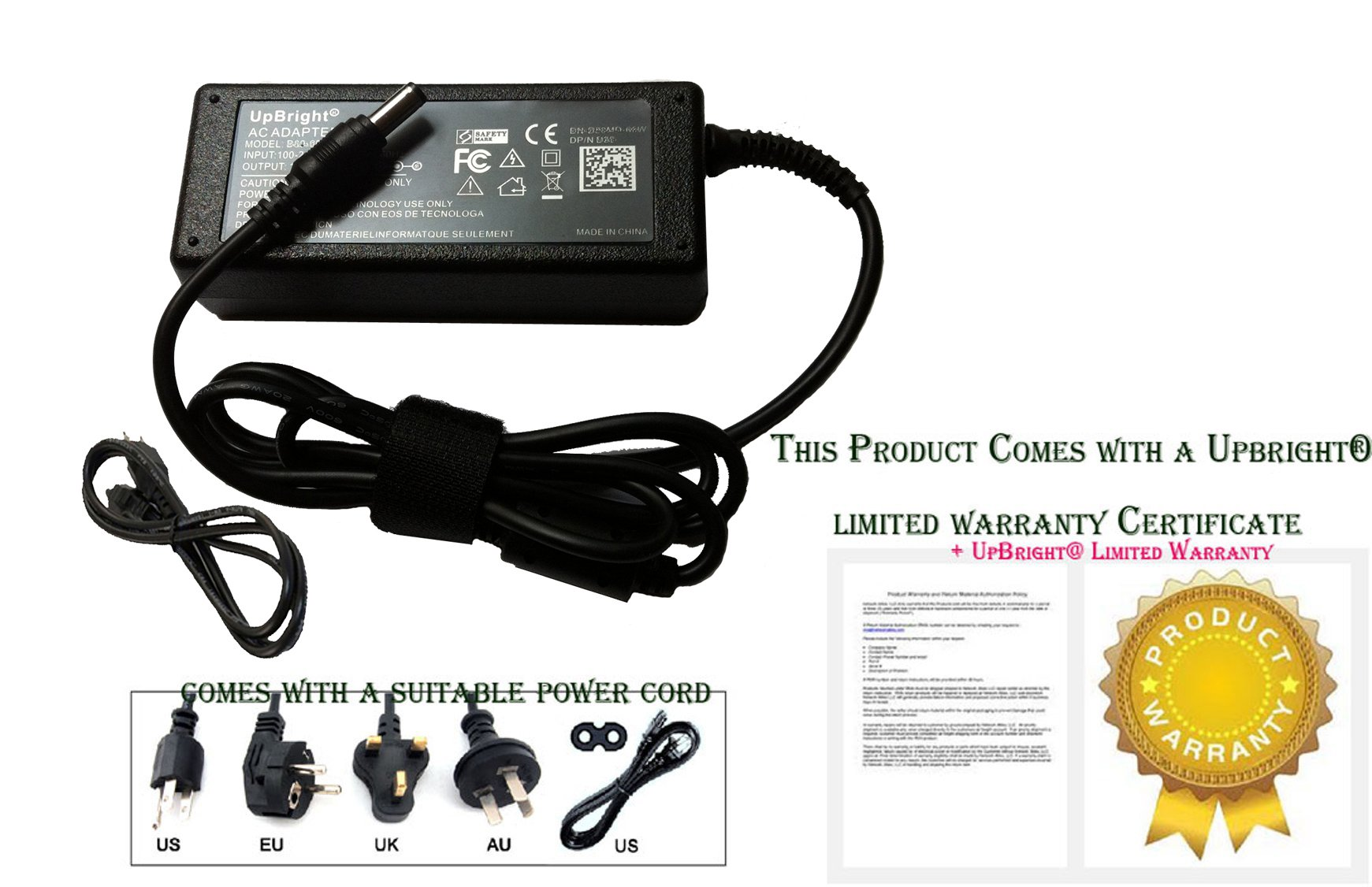 UpBright NEW 12V AC / DC Adapter For Jensen 2412 JE2412LED 24'' 2612 JE2612LED 26'' JE2612LEDRTL LED LCD TV HDTV HD DVD Combo RV Direct ACDC1911 FPE1909DVDC 12VDC Switching Power Supply Battery Charger by UPBRIGHT
