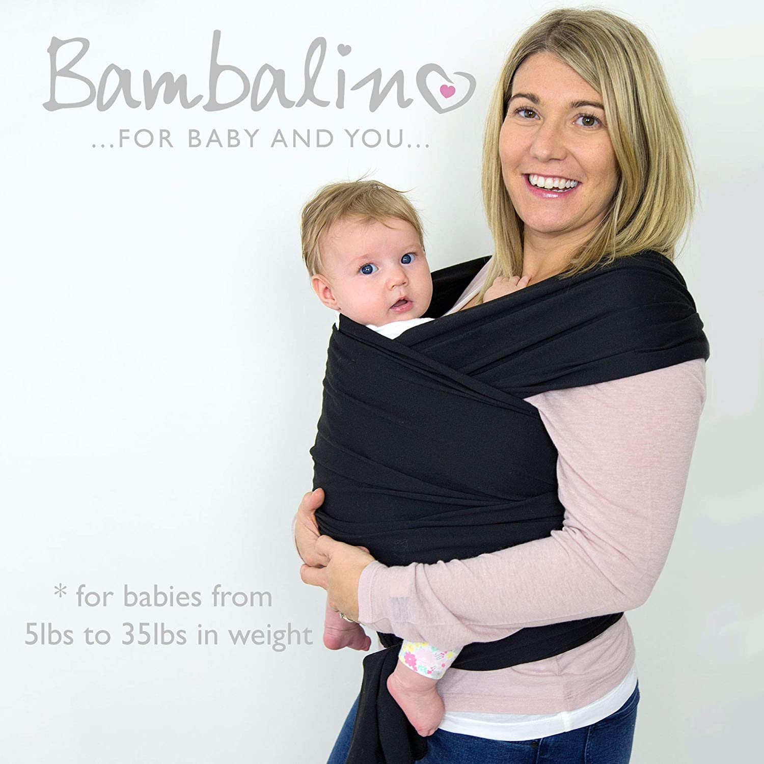 Organic Cotton Breathable Baby Sling Soothing for Baby One Size Grey