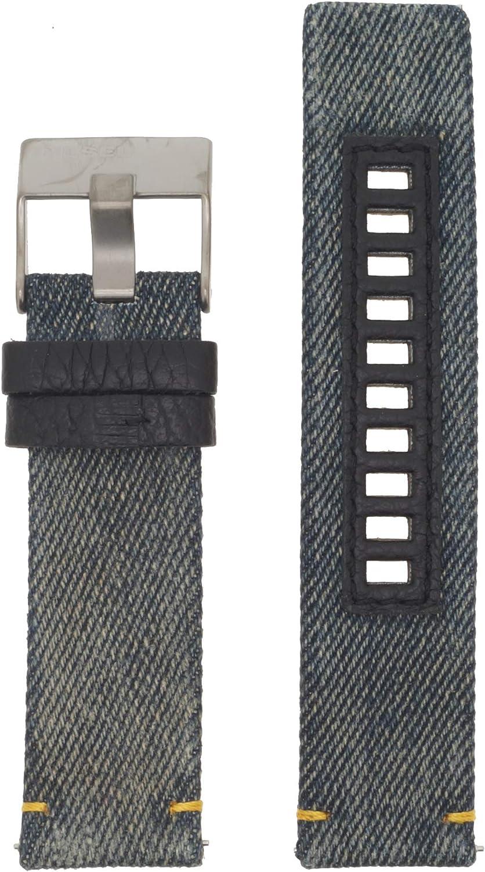 Diesel Reloj Banda Correa Intercambiable LB de DZ1689Original para Banda DZ 1689Reloj de Pulsera Piel 24mm Azul