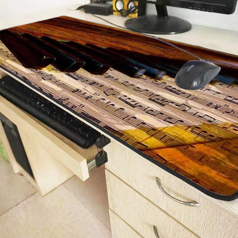 Haofengjing Rétro Piano Clé Grand Jeu Souris Tapis Gamer Verrouillage Bord Clavier Ordinateur Souris Tapis Tapis Tapis De Jeu Tapis De Souris 200X250 MM