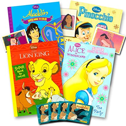 Amazon.com: Disney Classic Coloring Book Super Set -- 4 Disney ...