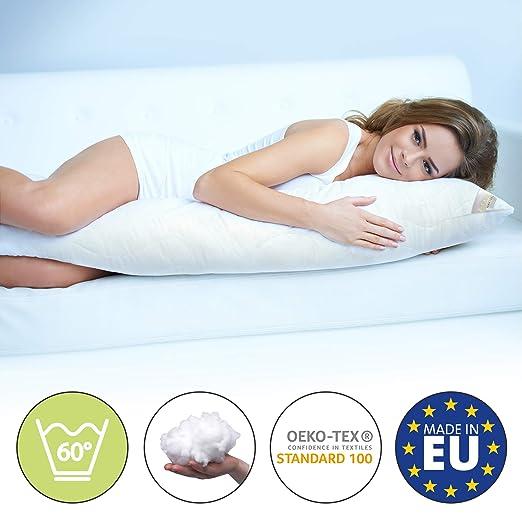 Beautissu Komfort Seitenschläferkissen 145x40cm BeauNuit SK – Premium COOL Seitenschläfer Kissen Lagerungskissen Schwangersch
