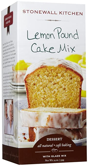 Amazon Com Stonewall Kitchen Lemon Pound Cake Mix 19 Ounce Box