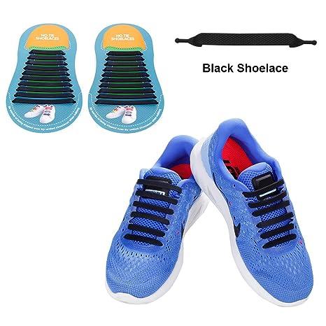 No cravatta lacci in silicone per scarpe per bambini e adulti impermeabile  Tieless elastico Athletic running 6b0c99776fe