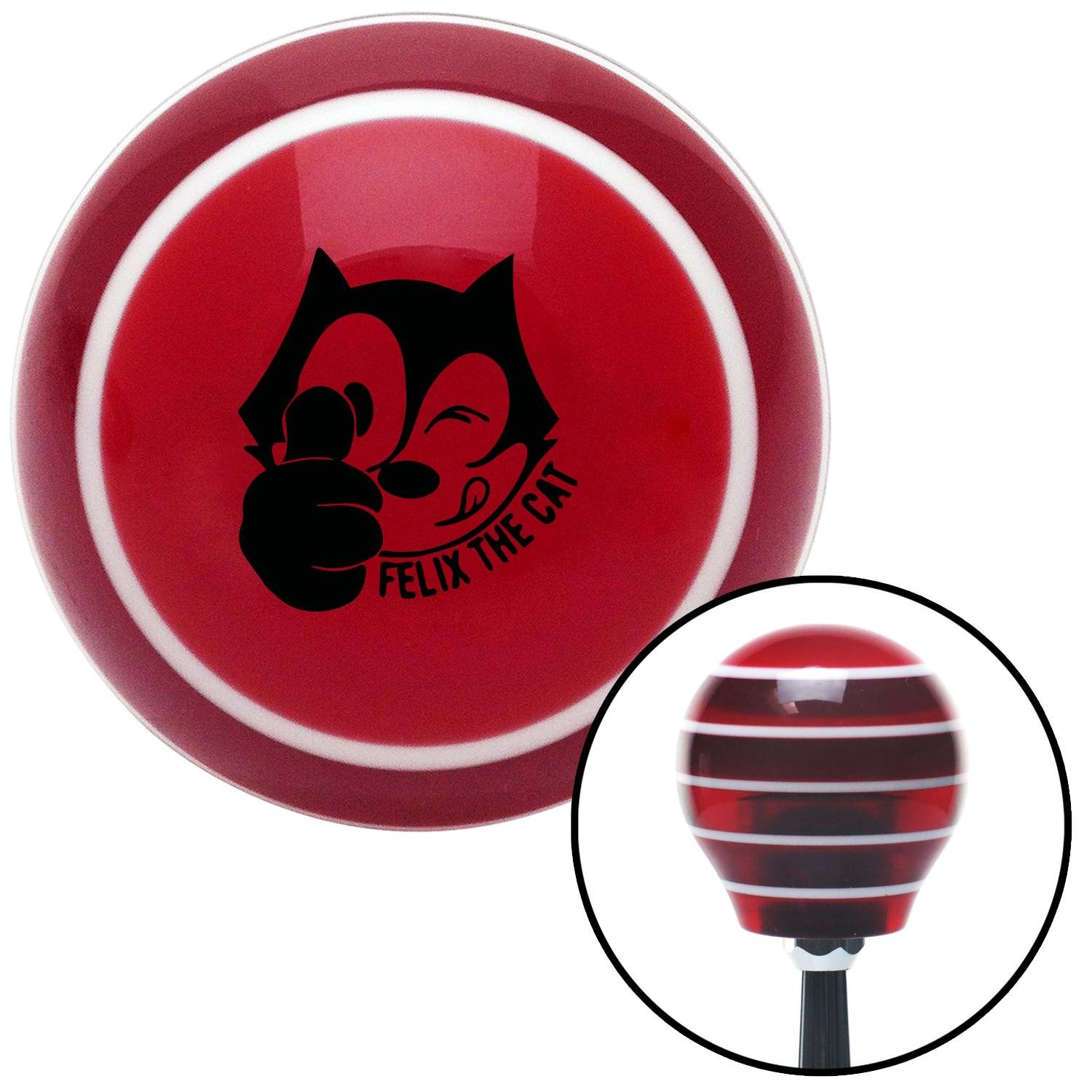 American Shifter 38141 Orange Metal Flake Shift Knob with 16mm x 1.5mm Insert Orange Concentrated