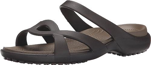 Crocs Meleen CrossBand Sandal W Weiß Oyster Schuhe Sandalen Damen Erwachsene