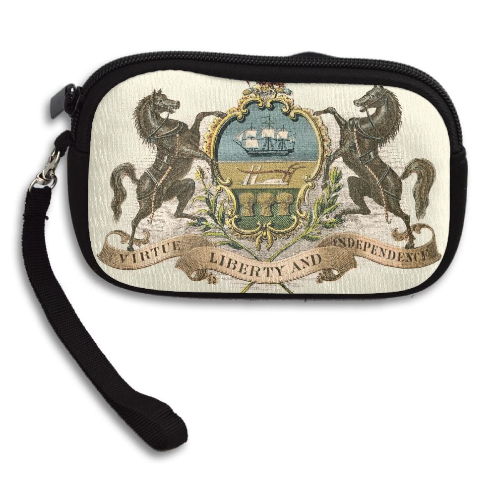 Pennsylvania State Coat Of Arms Deluxe Printing Small Purse Portable Receiving Bag