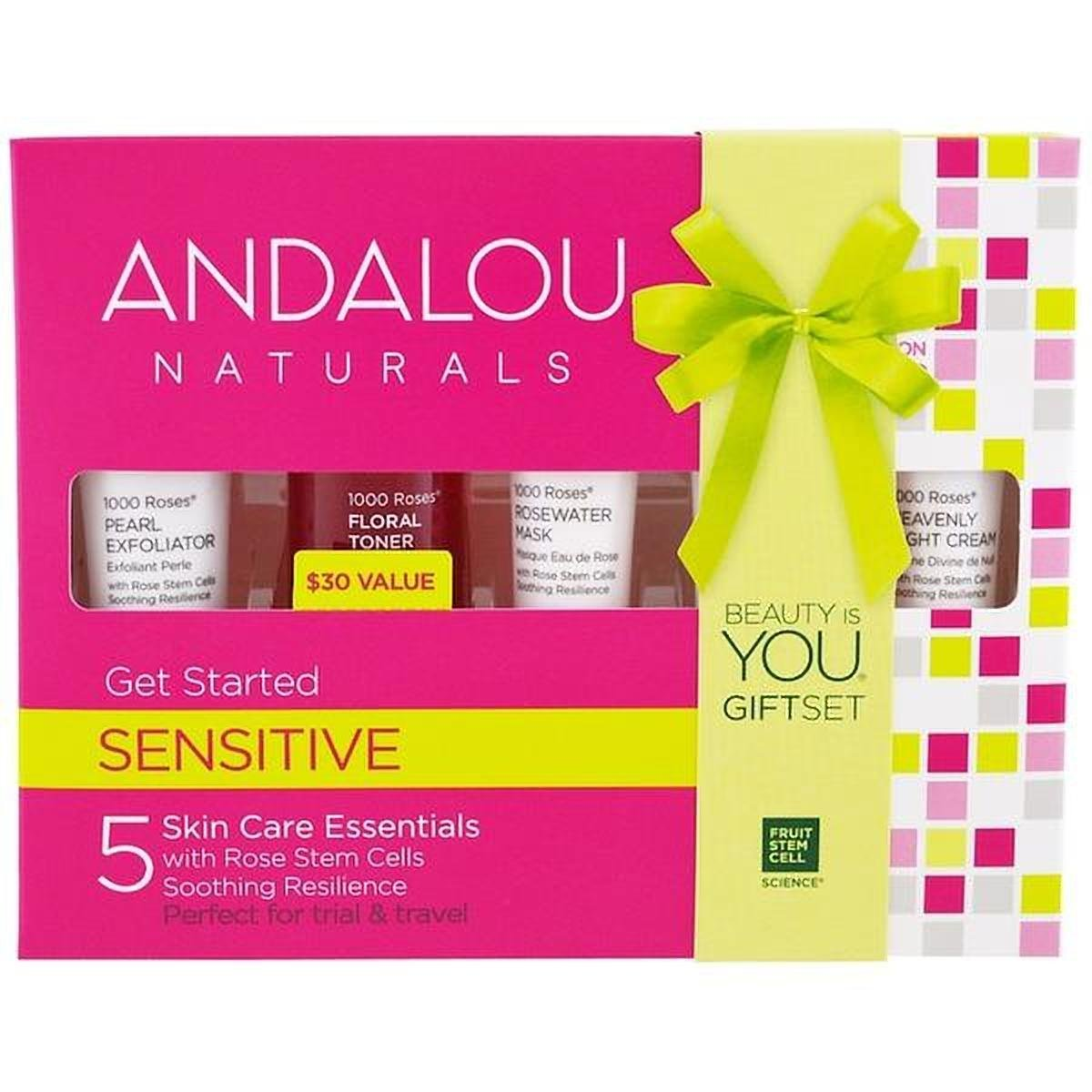 Andalou Naturals 1000 Roses 5 Pieces Get Started Kit