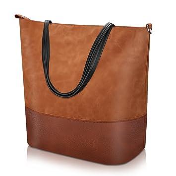 dba94b5c539ac PROKING Umhängetasche Damen Soft Leder Damenhandtaschen Wasserdichte Groß  Handtasche Reise Tägliche Funktionelle Mädchen und Damen Schultertaschen