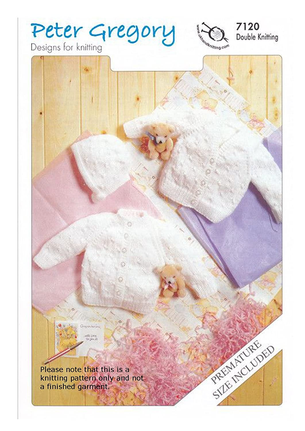 PG 7120 Cardigans and Bonnet. Baby Double Knitting Pattern