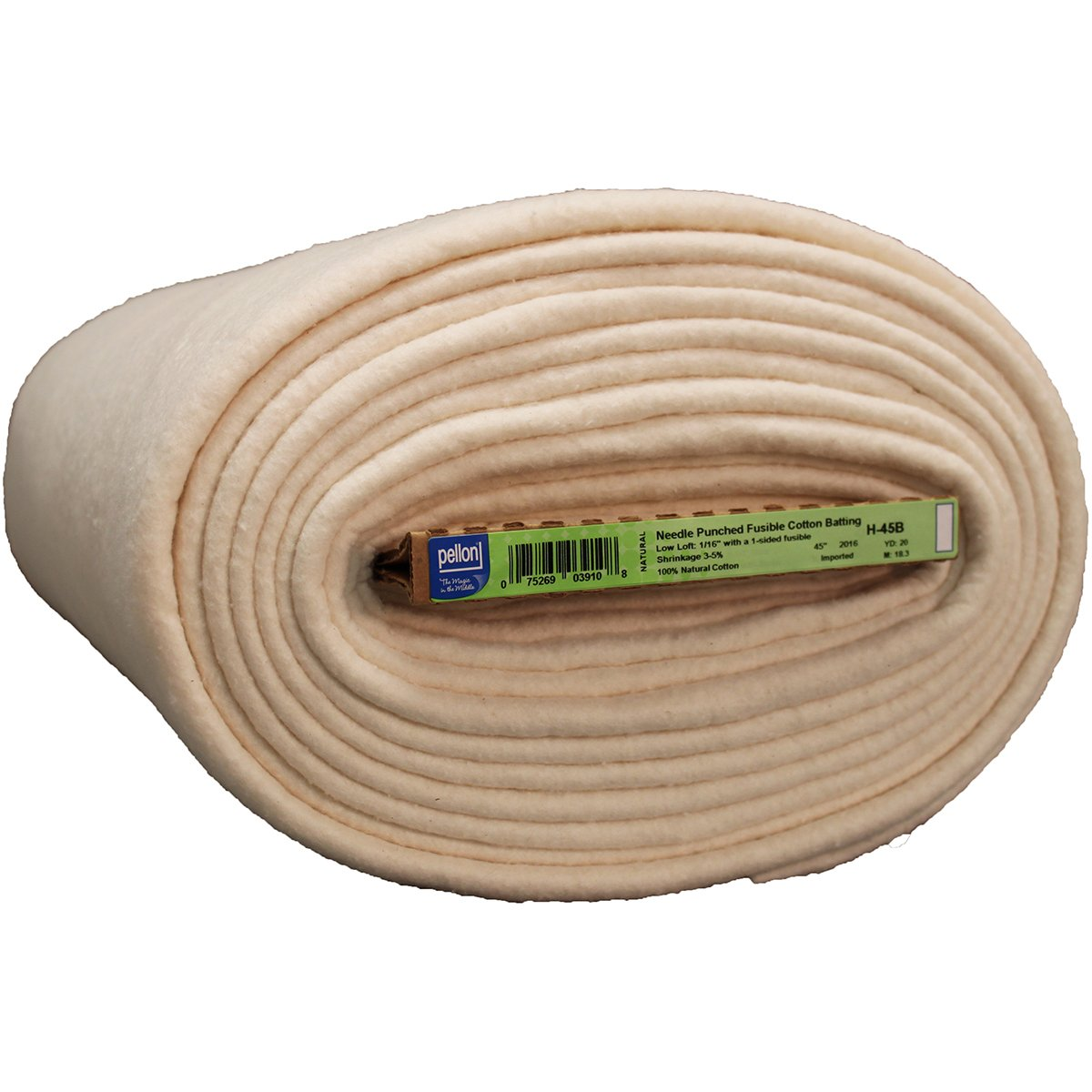 Pellon H-45B Fob MI Fusible Cotton Batting 45 x 20 yd