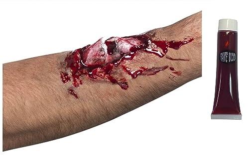 Rotto l'osso ferita aperta carne ferita cicatrice in lattice taglio morti Zombie + sangue