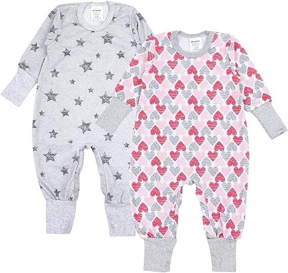TupTam Baby Erstlingsm/ütze mit Ohren 2er Pack