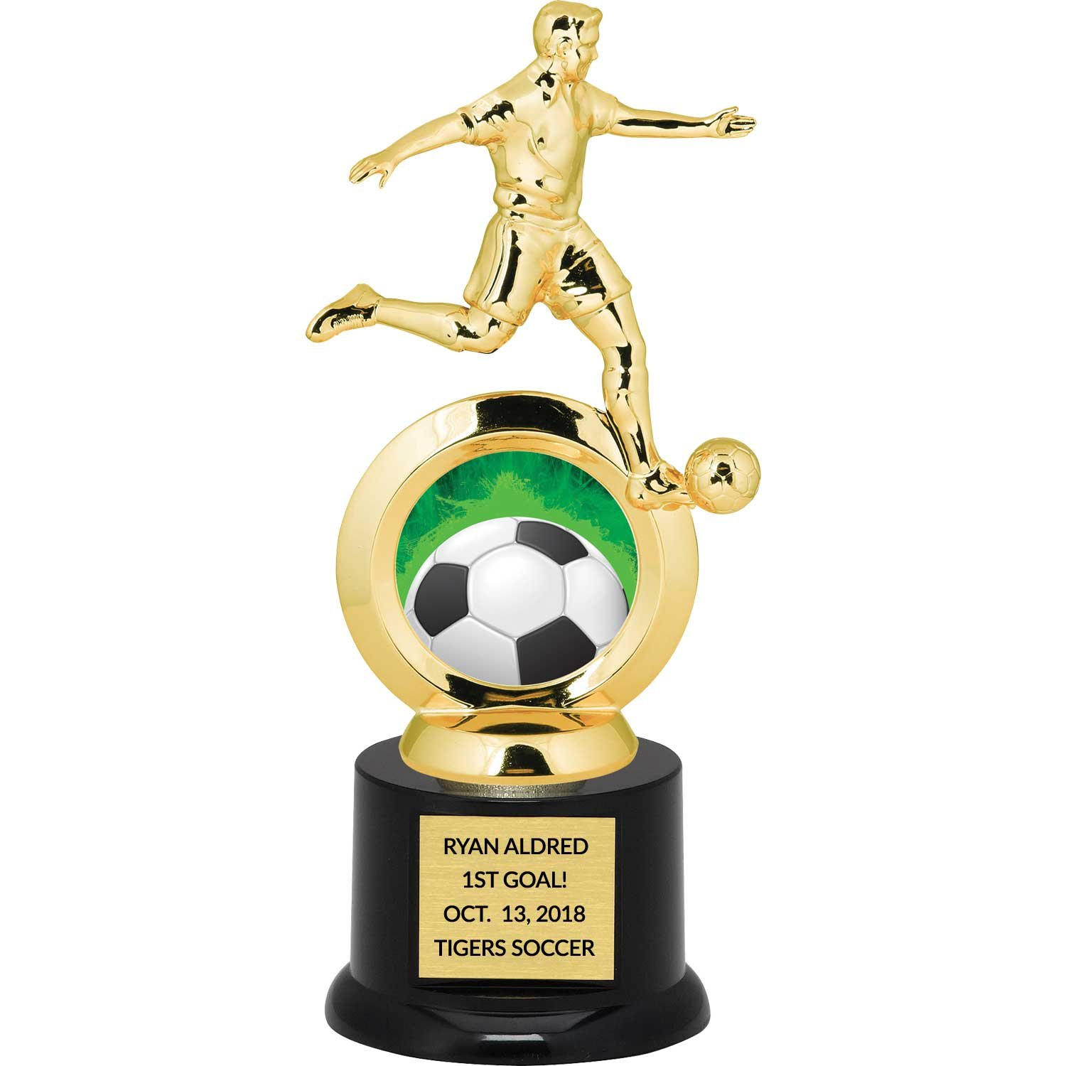 DINN BROS., INC. ''THE TROPHY PEOPLE'' Boy's Soccer Trophy with Free Engraving