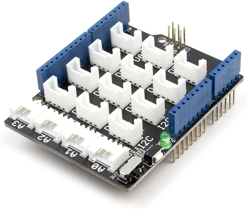 However Some Need 3.3V Not Every Micro-Controller Main Board Needs A Supply Voltage Of 5V One Of Which Is Vcc Seeedstudio Base Shield V2 // Power Compatible: Every Grove Connector Has Four Wires Thats Why We Add A Power Switch To Base Shield V2