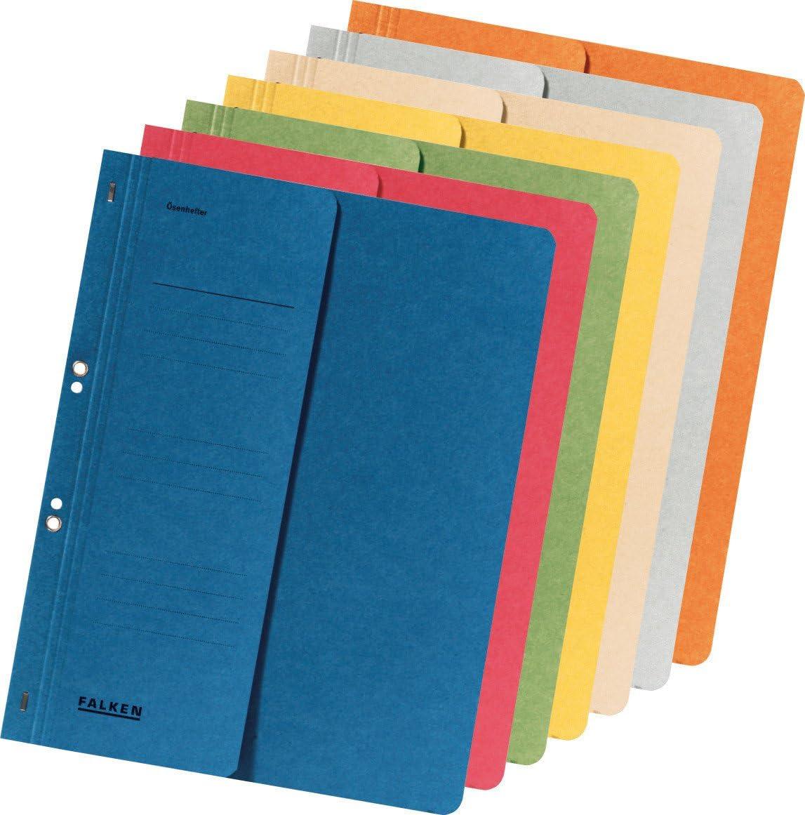 A4 Half Cover FALKEN Eyelet Top-Down Flat Files Grey 250g Pack 50