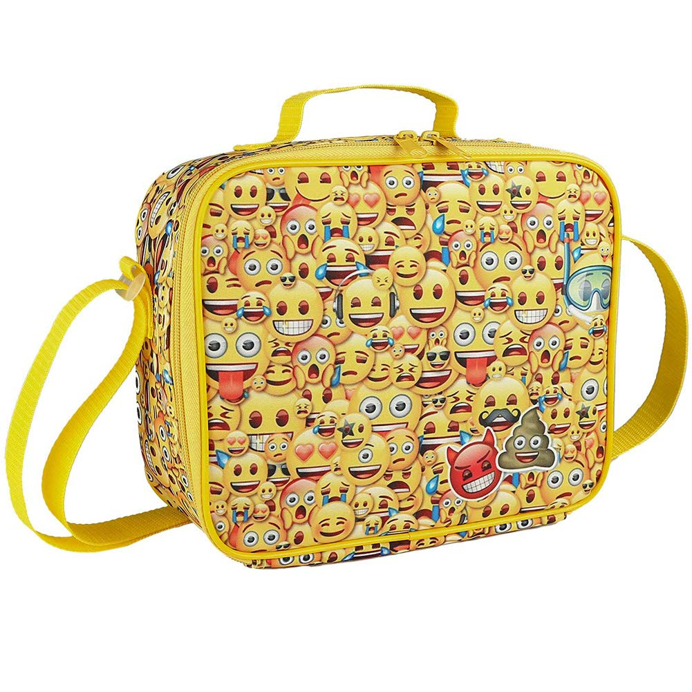 Lunch Bag-Toddler Insulated and Water-Resistant Lunch Box Tote bag-Emoji