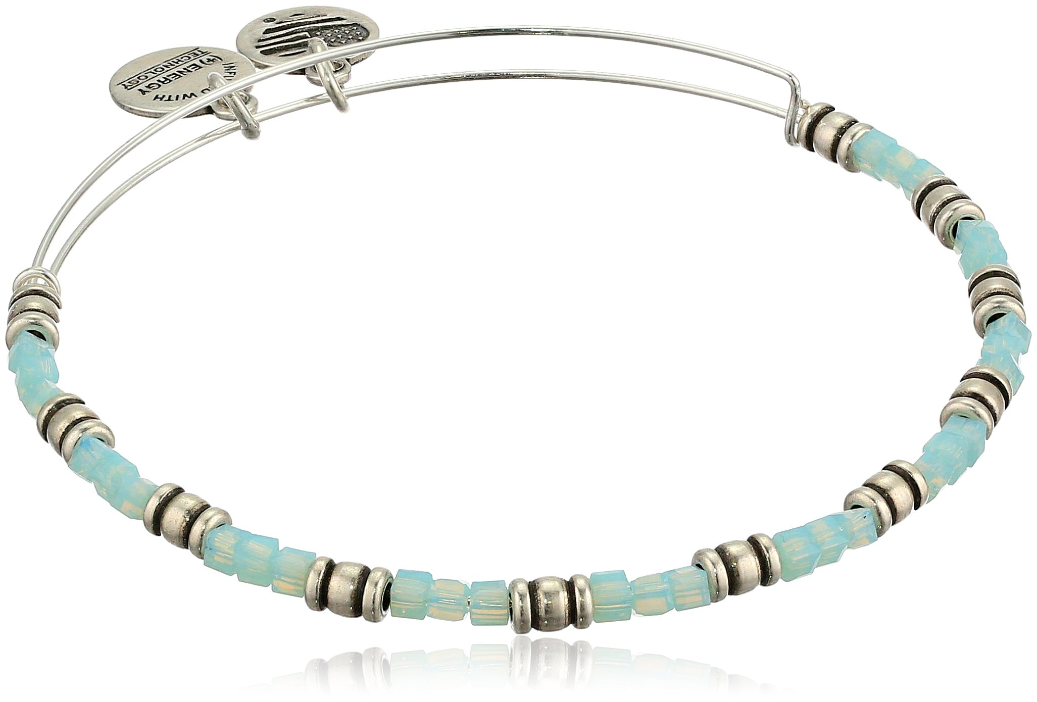 Alex and Ani Women's Coastal Ocean Bangle Bracelet, Rafaelian Silver, Expandable