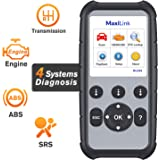 Autel MaxiLink ML629 Enhanced CAN OBD2 Scanner with ABS SRS Transmission Engine Diagnosis Auto VIN Scan Tool Turn Off Check Engine Light, Advanced Ver. of AL619, ML619