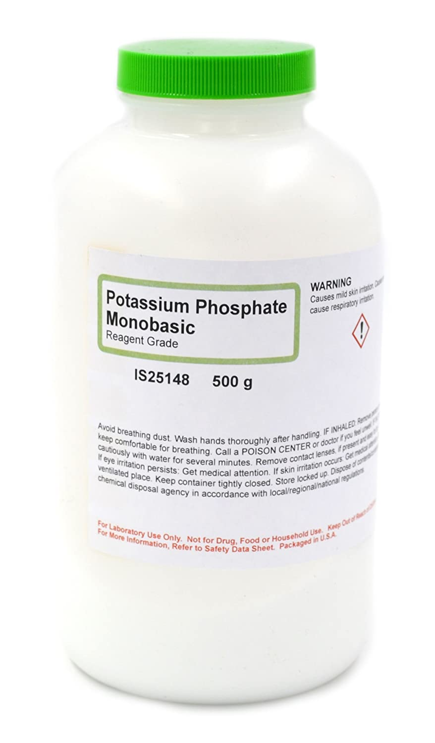 Reagent Grade Potassium Phosphate Monobasic, 500g - The Curated Chemical Collection