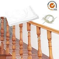 Starter Filet de sécurité de la balustrade, 3 mètres épaissie Safe Rail Net Rampe d'escaliers Net Sécurité des enfants Pet Toy Escaliers de sécurité Protecteur pour balcon et Stairway Deck